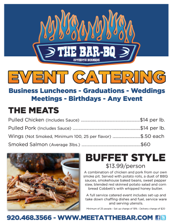 The Bar-BQ - Catering Menu